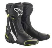 Alpinestars SMX Plus Boot Black/White/Fluo
